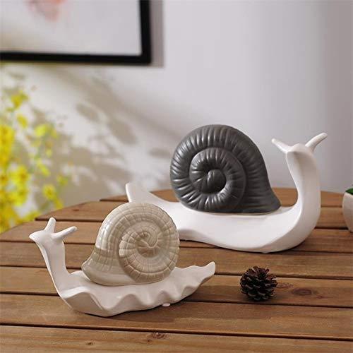 ZAMTAC Modern Porcelain Snail Statue Handmade Ceramics Escargot Sculpture Decoration Gift and Craft Embellishment Ornament Accessories - (Color: Multi-Colored, Size: M)