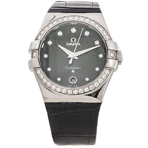 Omega Constellation Quartz (Battery) Grey/Charcoal Dial Womens Watch 123.18.35.60.56.001 (Certified Pre-Owned)