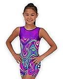 Pelle Gymnastics Biketard/Unitard - Purple Twister - C Large