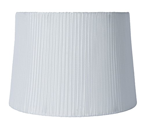 (Urbanest Faux Silk Box Pleated Drum Lampshade, 10x12x8.5