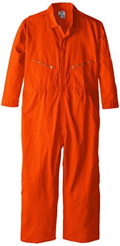 (Walls Men Long Sleeved Poplin Coveralls Orange Tall 60)