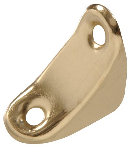 The Hillman Group The Hillman Group 853091 1 x 3/4 In. Chair Brace- Brass Finish 4-Pack - Chair Corner Brace
