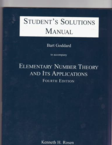 students solutions manual to accompany elementary number theory and rh amazon com Elementary Number Theory 7th Edition Elementary Number Theory Problems