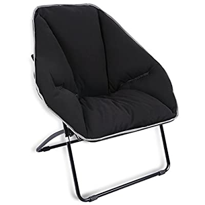 REDCAMP Oversized Folding Saucer Chair, Large Dish Chair for Adults, 34x23.6x17 inches