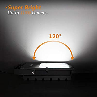 LEPOWER 150W LED Flood Light Outdoor, 11000lm Super Bright Work Lights with Plug