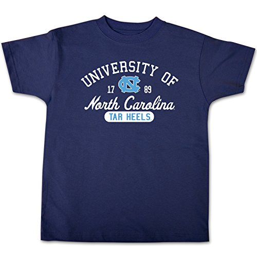 (College Kids NCAA North Carolina Tar Heels Youth Short Sleeve Tee, Size 8-10 /Small, Navy)