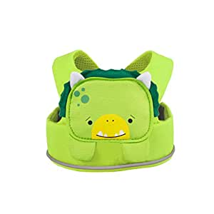 Trunki ToddlePak - Fuss Free Toddler Walking Reins & Kids Safety Harness – Dudley Dinosaur (Green)