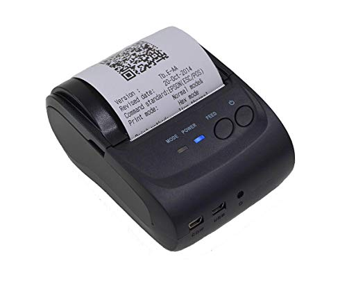 Sanbee Impresora Termica Portatil Mini Bluetooth USB, para Tickets y Recibos POS PDV, 58mm, Inalámbrica, Compatible con Windows Android iOS
