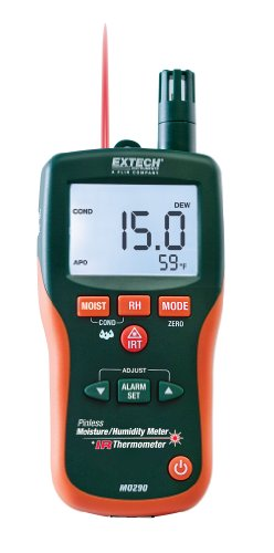 Extech MO290 Pinless Moisture Meter and IR Thermometer