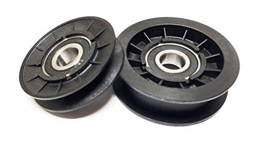 John Pulley Deere (V-Idler Plus Flat Idler Pulley For GX20286 GX20287 (Drive Idlers) Used on John Deere, Sabre, Scotts Mowers)