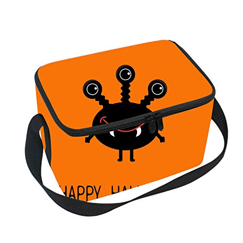 Classic Halloween Black Silhouette Durable Picnic Bag -