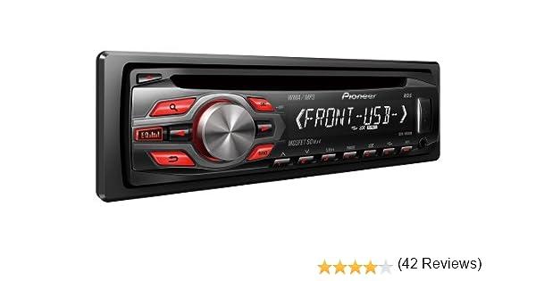Pioneer DEH-1400UB Negro receptor multimedia para coche - Radio para coche (Negro, 4.0 canales, 50 W, CD,CD-R,CD-RW, MOSFET, MP3,WAV,WMA): Amazon.es: Electrónica
