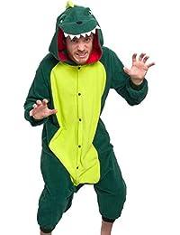 Unisex Adult Pajamas - Plush One Piece Cosplay Animal Dinosaur Costume