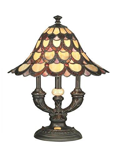 Dale Tiffany Peacock - Dale Tiffany TA70112 Peacock Table Lamp, 19