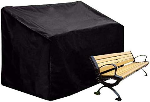 防水カバーガー ファニチャーカバー ガーデン家具カバー 防水 ガーデンテーブルカバー ヘビーデューティ 長方形 パティオセットカバー 、黒 シバオ (Size : 190x66x89cm)