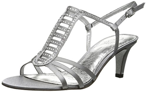 Dress Adrianna US Nude Papell Pewter Women's Sandal Ainsley Sheena qpgg1tBAw