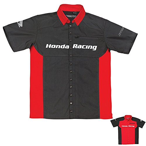 Sullivans Honda Racing Mens Honda Staff Shirt in Red//Black 2X-Large