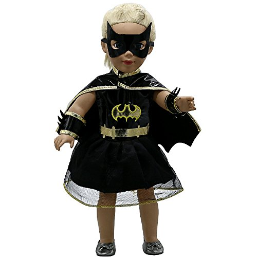Good Look Doll Costume - Bat Doll - Inspired by Batman - For 18 inch Dolls - 4 Piece (Batman Dressing Up Outfit)