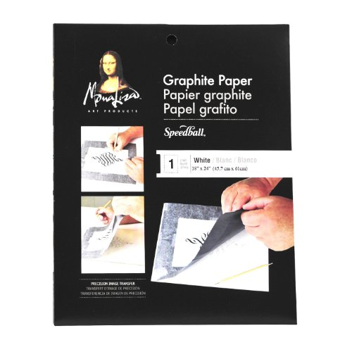 Speedball Mona Lisa 18-Inch-by-24-Inch Jumbo Graphite Paper, White ()