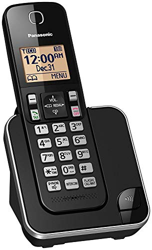 Panasonic KX-TGC350B / KX-TGC380B Dect 6.0 1-Handset Landline Telephone (Certified Refurbished) (6.0 One Handset Dect)