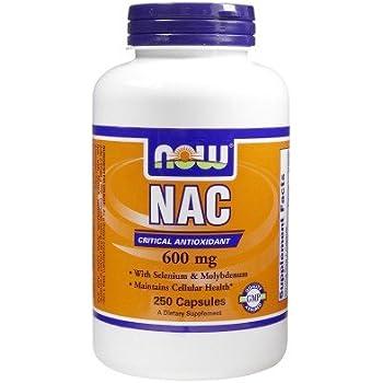 Amazon.com: Ahora Nac 600 mg n-acetyl cysteine – 250 caps ...