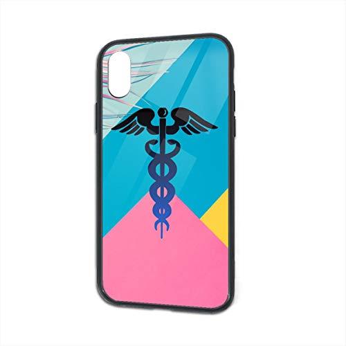 Nurse Cross Clipart iPhone Xs TPU Glass Phone Case Anti-Scratch Shock Absorption Cover Case