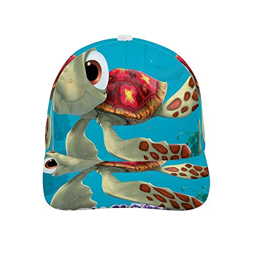 Adult Printing Bended Rubber Baseball Cap Finding nemo sea Turtles Sun hat for Outdoor Polo Golf Cap]()