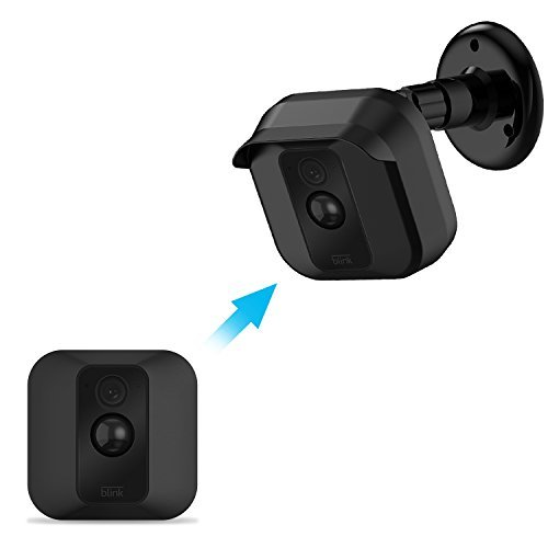 Blink Xt Camera Wall Mount Bracket, Weather Proof 360 Degree Protective Adjustable Indoor/Outdoor Mount and Cover for Blink Xt Home Security Camera System Anti-Sun Glare UV Protection (Black(1 Pack))