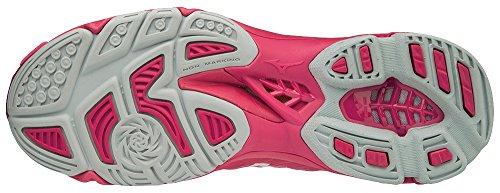 Azalea Zapatillas Wave Wht Lightning Mujer 001 Z4mid para Mizuno Camelliarose Rosa qT0Sn