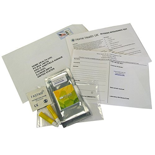 Food Intolerance Allergy Home Test Postal Pack – 64 foods tested