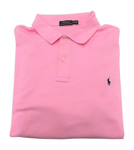 Ralph Lauren Men's Big and Tall Interlock Polo Shirt, Pony Logo, Classic Fit. (Pink, 3XB)