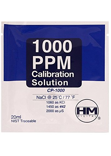 Solution de calibration HM Digital TDS 1000 ppm (20ml) CP-1000