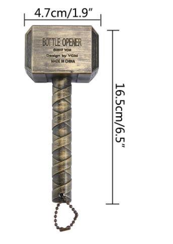 Beer Bottle Openers Hammer of Thor Shaped Bottle Opener Wine Corkscrew Beverage Wrench Jar Openers