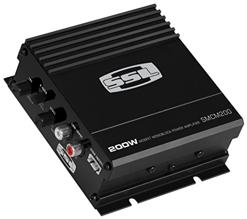 Sound Storm Labs SMCM200 200 Watt 2 Ohm Stable Class A B Monoblock Mosfet Car Amplifier