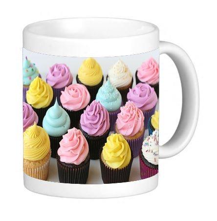Colorful Cupcakes Pastel Frosting 11 ounce Ceramic Coffee Mug Tea Cup - Pastel 11 Ounce Mug