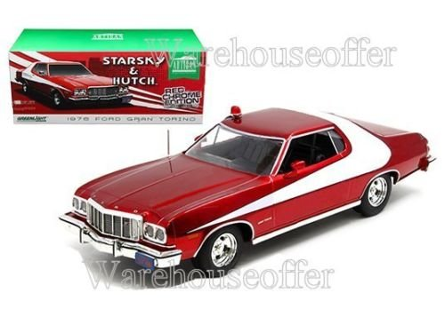 New 1:18 GREENLIGHT ARTISAN COLLECTION - STARSKY & HUTCH - RED 1976 FORD GRAN TORINODiecast Model Car By Greenlight - Collection Hutch