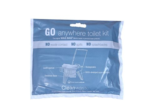 Cleanwaste GO Anywhere Toilet Kits-100/Pack (D007W00)