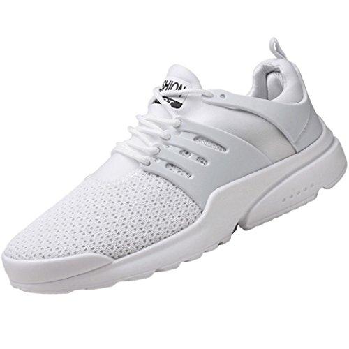 Suole Sneakers Stringate di Leggere Gomma Bianca da Scarpe UOMOGO Passeggio per 42 Uomo Scarpe Tessitura Le di Comfort Asia da Scarpe Autunno Primavera Tulle qIPwO