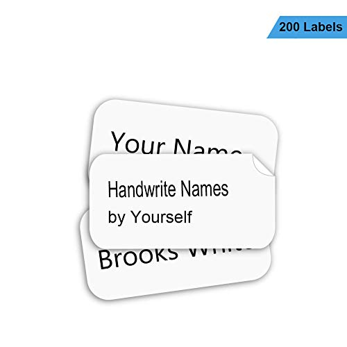 (Name Labels for Clothing No-Iron Write-On Fabric Labels for Camp, School, Nursing Home, Washer & Dryer Safe, 200Pcs)