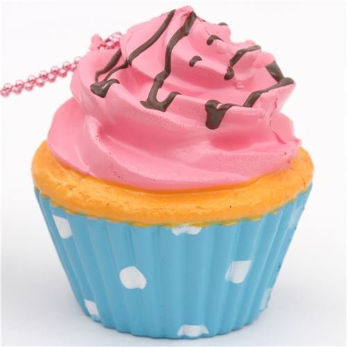 Review Pink icing cupcake squishy