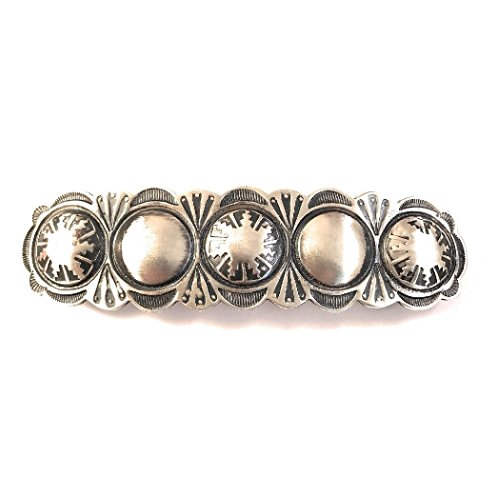 Navajo Sterling Silver Barrette Signed from Nizhoni Traders LLC