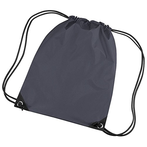 Gymsack Bag with cord straps by BagBase - 31 Colours to choose f - Graphite Grey