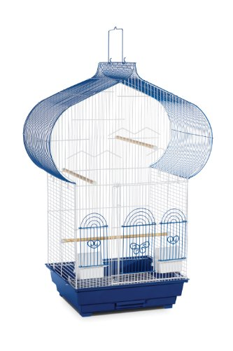 Prevue Hendryx Casbah Parakeet Cage, Blue and White -