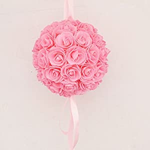 Artificial Pe Rose Flower Balls Kissing Balls Centerpiece Flowers 30Cm Diameter 108