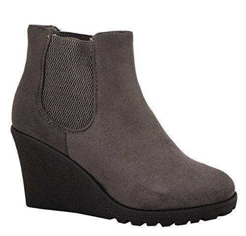 Elara - Botas Chelsea Mujer gris