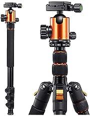 "65"" Camera Tripod Monopod,Q555 Travel Camera Tripod for DSLR,Tripod for Camera,Camera Tripod with 360 Degree Ball Head and Quick Release Plate,Compatible for Canon,Nikon,Sony,Samsung,Olympus&Panasonic"