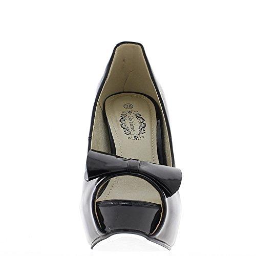 Escarpins bouts ouverts bleus à talons de 13.5cm et plateau de 3 cm