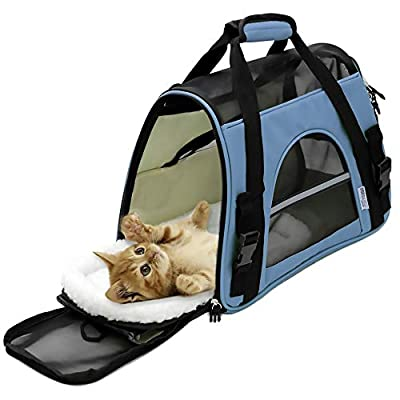 OxGord Airline Approved Pet Carriers w/ Fleece Bed For Dog & Cat