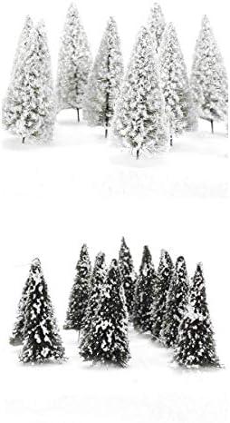 Hellery モデルツリー 樹木模型 杉の木 鉄道風景 建物模型 ジオラマ 箱庭 情景コレクション 約20個