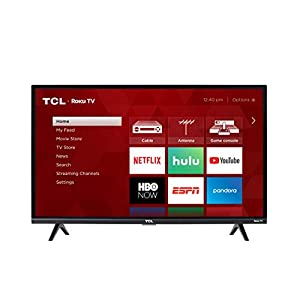 TCL 32-inch 1080p Roku Smart LED TV - 32S327, 2019 Model Televisions